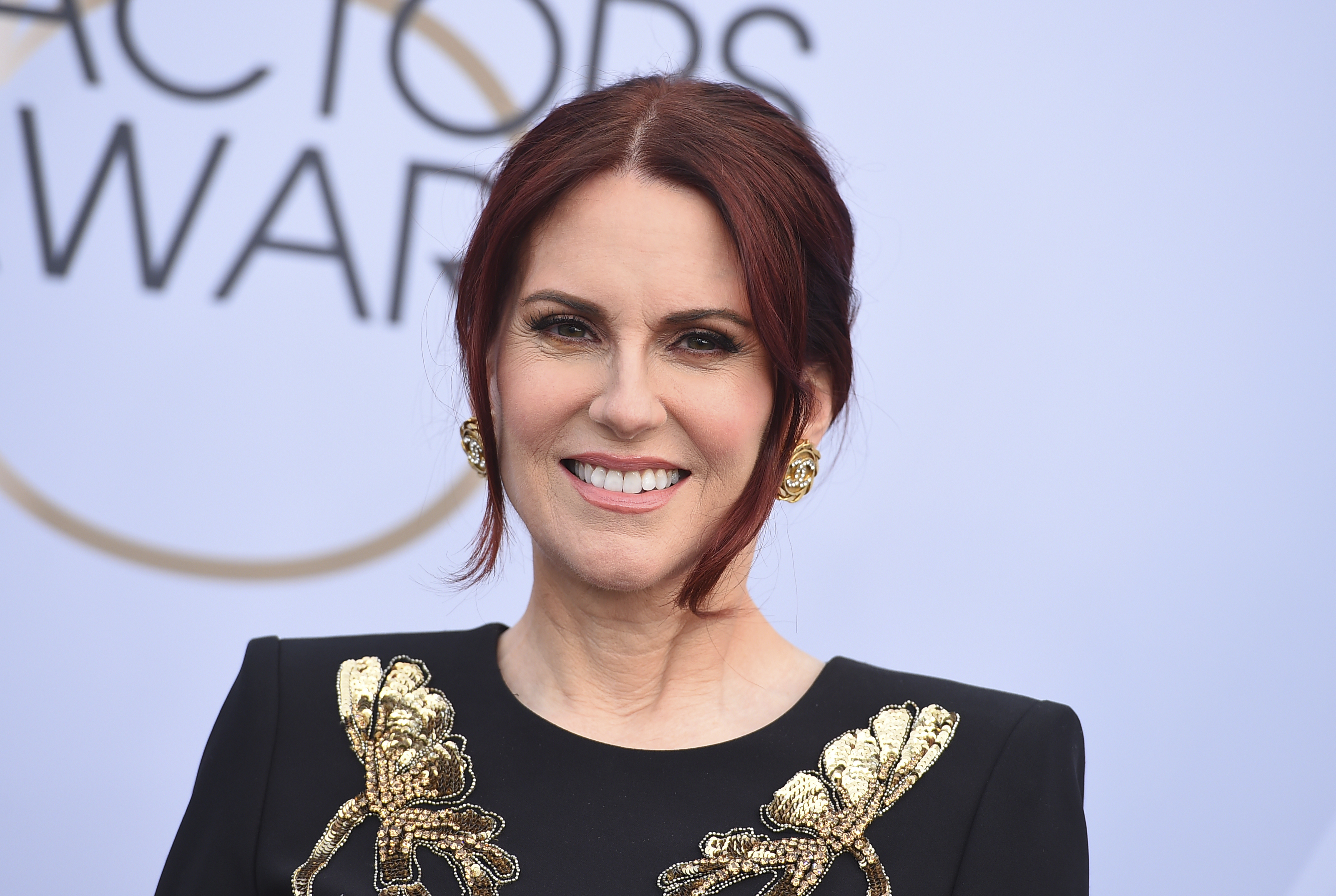 Megan Mullally arrives at the 25th annual Screen Actors Guild Awards at the Shrine Auditorium & Expo Hall on Sunday, Jan. 27, 2019, in Los Angeles. (Photo by Jordan Strauss/Invision/AP)
