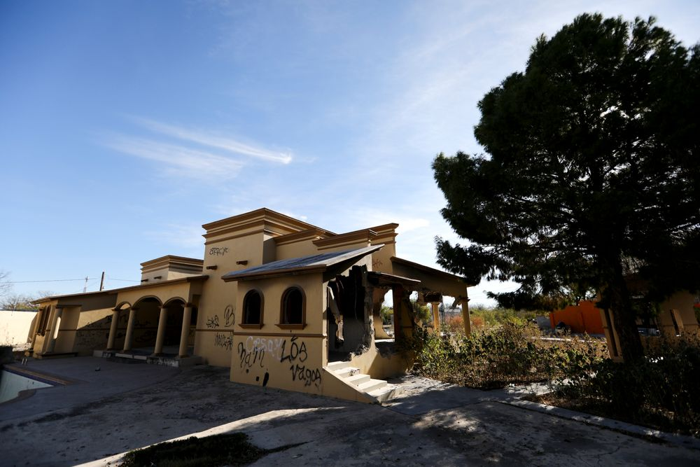 A view of a home torched by the Zetas cartel eight years back, in Allende, Coahuila state, Mexico, Tuesday, Dec. 3, 2019. In an act of revenge cartel members in 2011 razed and burned houses and disappeared people just by bearing the last name of the alleged traitor. Residents of the small town of Villa Union, 12 miles from Allende, said Tuesday that they fear a return to the days of 2010-2013, when the old Zetas cartel killed, burned and abducted Coahuila citizens.  (AP Photo/Eduardo Verdugo)