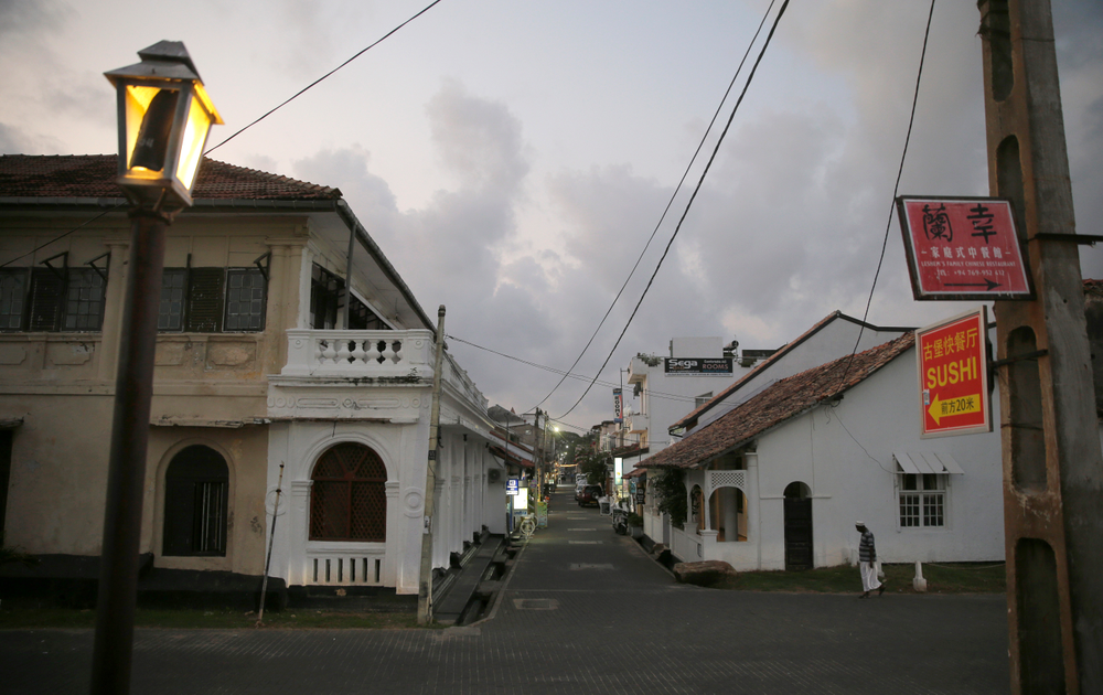 In this Friday, May 10, 2019, photo, a street that is usually crowded with tourists is seen empty in Galle, Sri Lanka. Sri Lanka was the Lonely Planet guide's top travel destination for 2019, but since the Easter Sunday attacks on churches and luxury hotels, foreign tourists have fled. More than 250 people, including 45 foreigners who are mostly from China, India, the U.S. and the U.K., died in the series of suicide bombings by Islamic State and its local affiliates in churches and hotels in the capital, Colombo, and across the country on April 21. (AP Photo/Eranga Jayawardena)