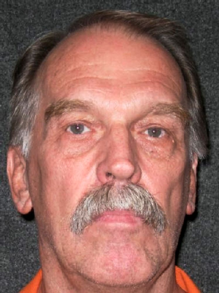 FILE - This Oct. 24, 2011, file photo released by Utah Department of Corrections shows Utah death row inmate Ron Lafferty. Utah prison officials said Monday, Nov. 11, 2019, that Lafferty, a death-row inmate whose double-murder case was featured in the book