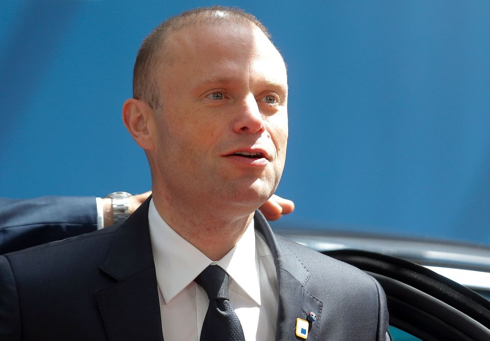 FILE - In this Thursday, June 20, 2019 file photo, Malta's Prime Minister Joseph Muscat arrives for an EU summit at the Europa building in Brussels. Maltese Prime Minister Joseph Muscat said Sunday Dec. 1, 2019, that he would resign in January following pressure from citizens for the truth about the 2017 car bombing that killed a journalist. (Julien Warnand/Pool via AP, File)