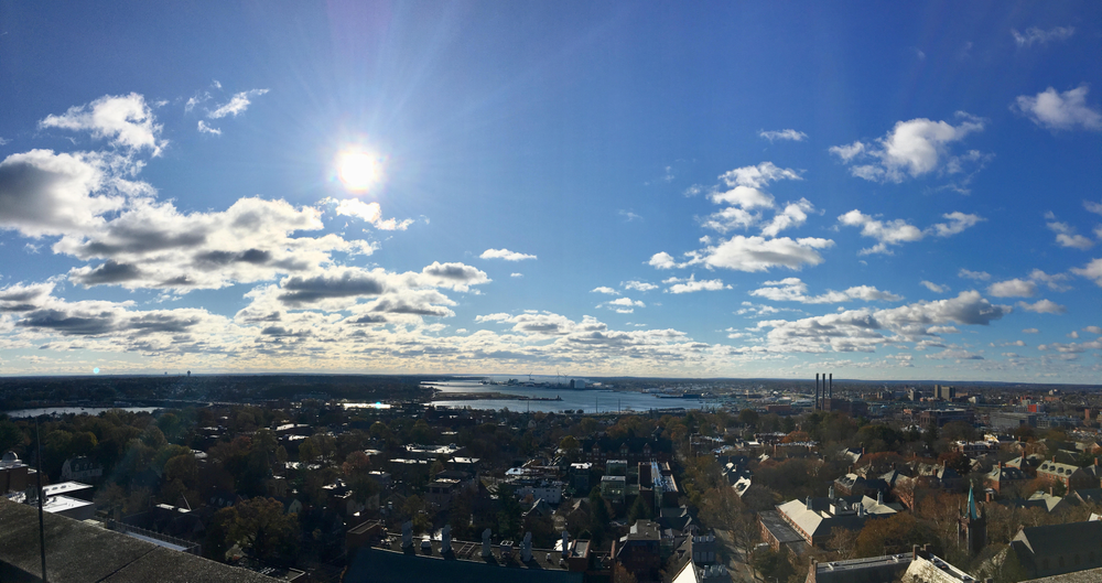 View from the Science Library at Brown University