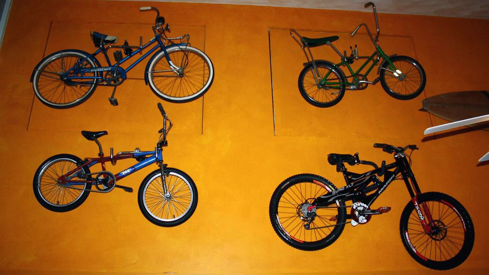 Inside The Bike Stop Cafe restaurant in Narragansett.