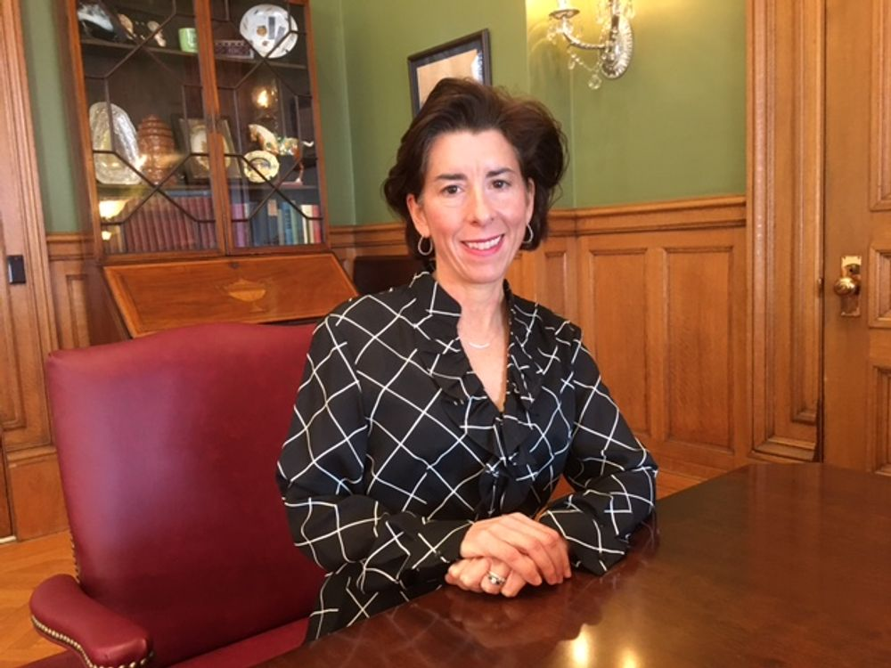 Gov. Raimondo in December 2019