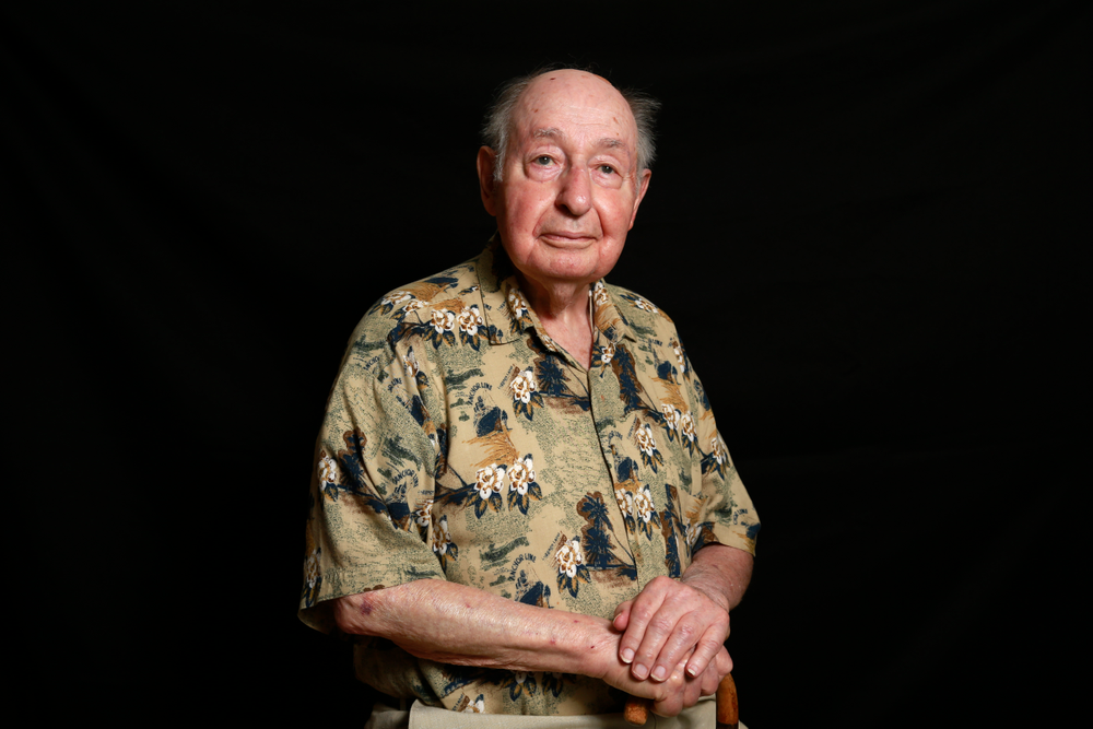 """In this photo taken Wednesday, May 15, 2019, Vincent Corsini, a World War II U.S. Army veteran in the 29th Infantry Division poses for a photo in Burlington, N.C. Corsini served during D-Day on June 6, 1944, at the invasion at Normandy. """"I wouldn't change my experience for a million dollars,"""" he said, adding: """"I wouldn't go through it again for a million dollars."""" (AP Photo/Gerry Broome)"""
