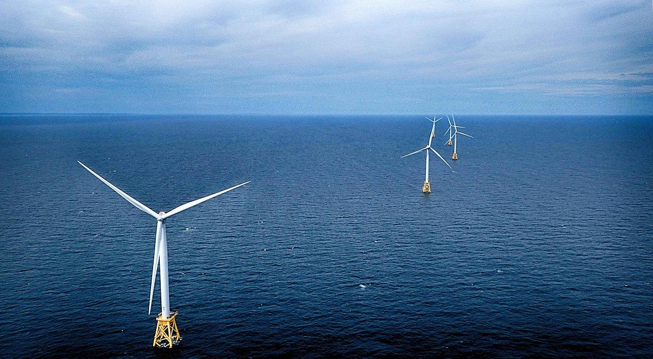 The Block Island Wind Farm.