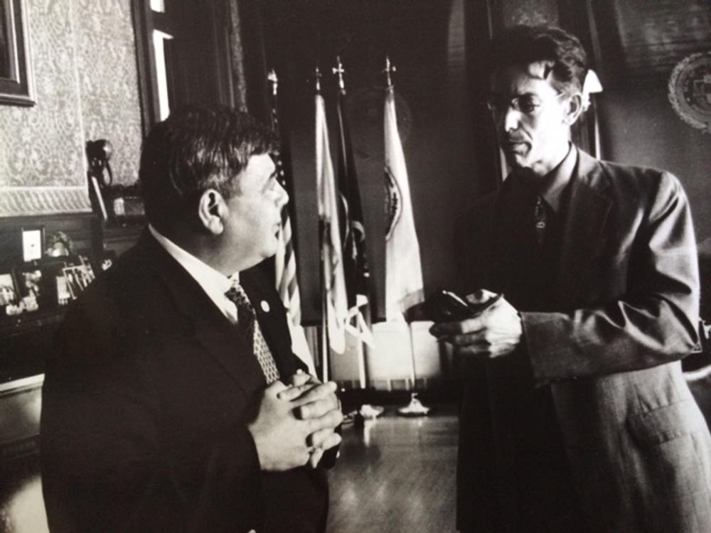 Cianci talking with Ian Donnis toward the end of his second tenure as mayor