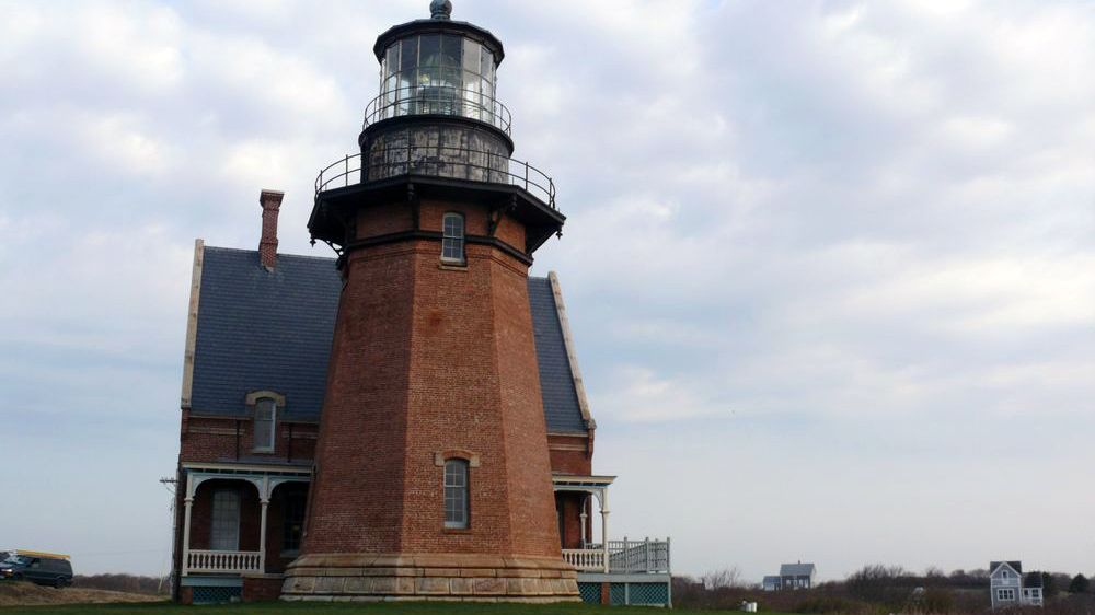 The Block Island Southeast Lighthouse is pictured here.