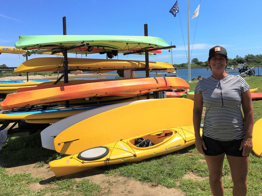 Corrie Heinz planned to move her 60 kayaks and paddleboards to her front yard.