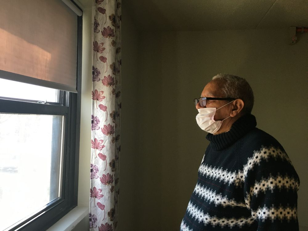 Filiberto Paredes in his home in Providence.