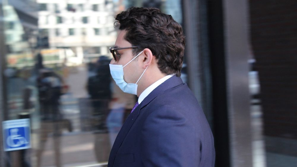 Former Fall River Mayor Jasiel Correia enters a federal courthouse in Boston for his trial on 24 charges.