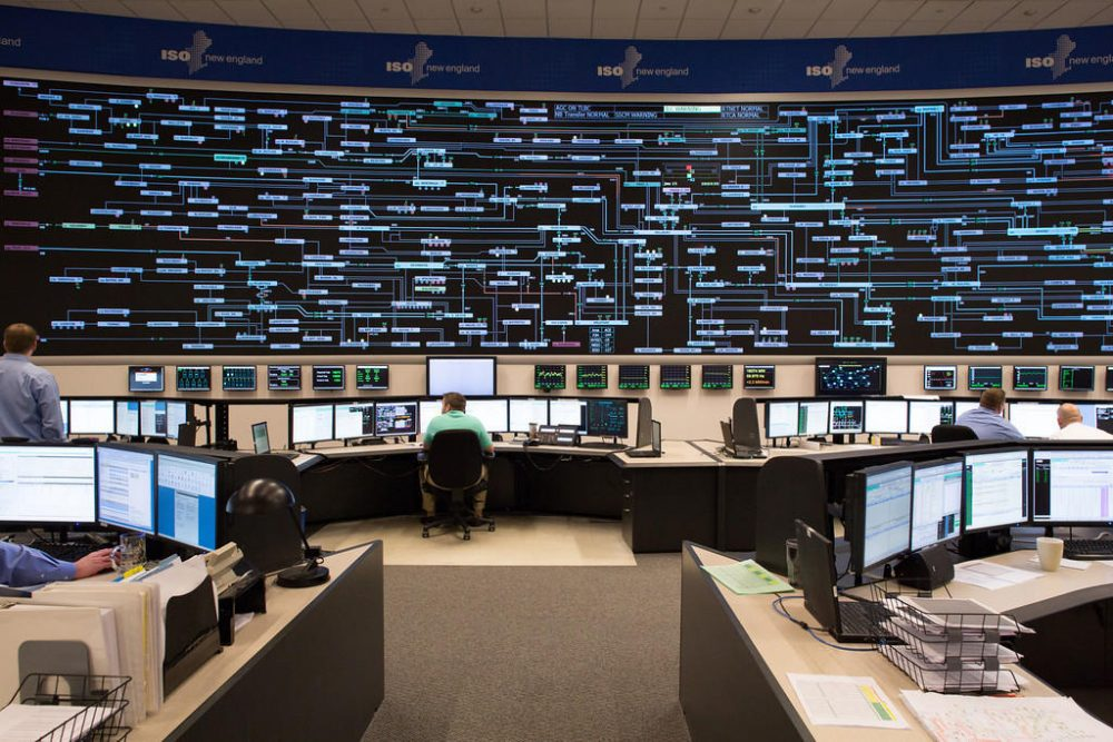 ISO New Engalnd's control room is shown.