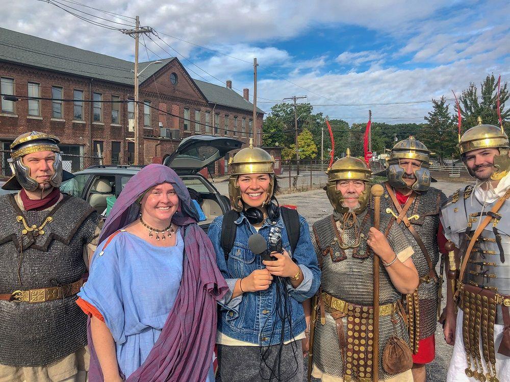 Ana with the Roman reenactors