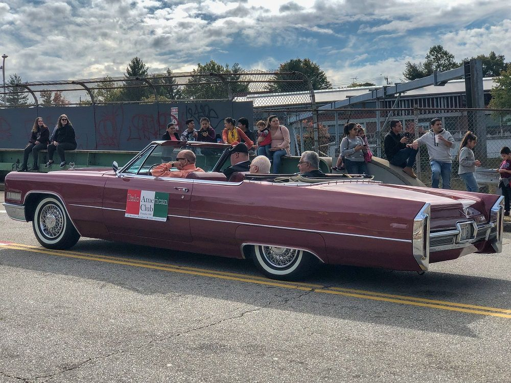 Steve, Tommy, Tommy, and Joe from the Italo-American Club in the parade