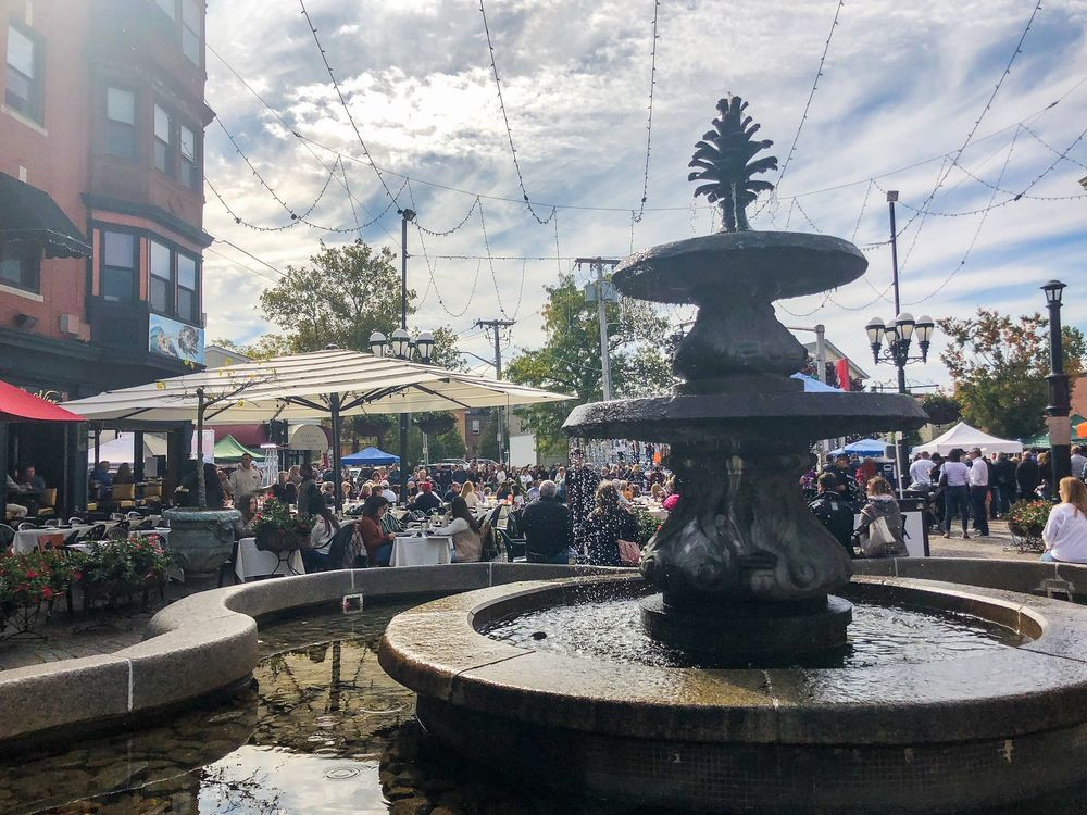DePasquale Square during Columbus Day Festival