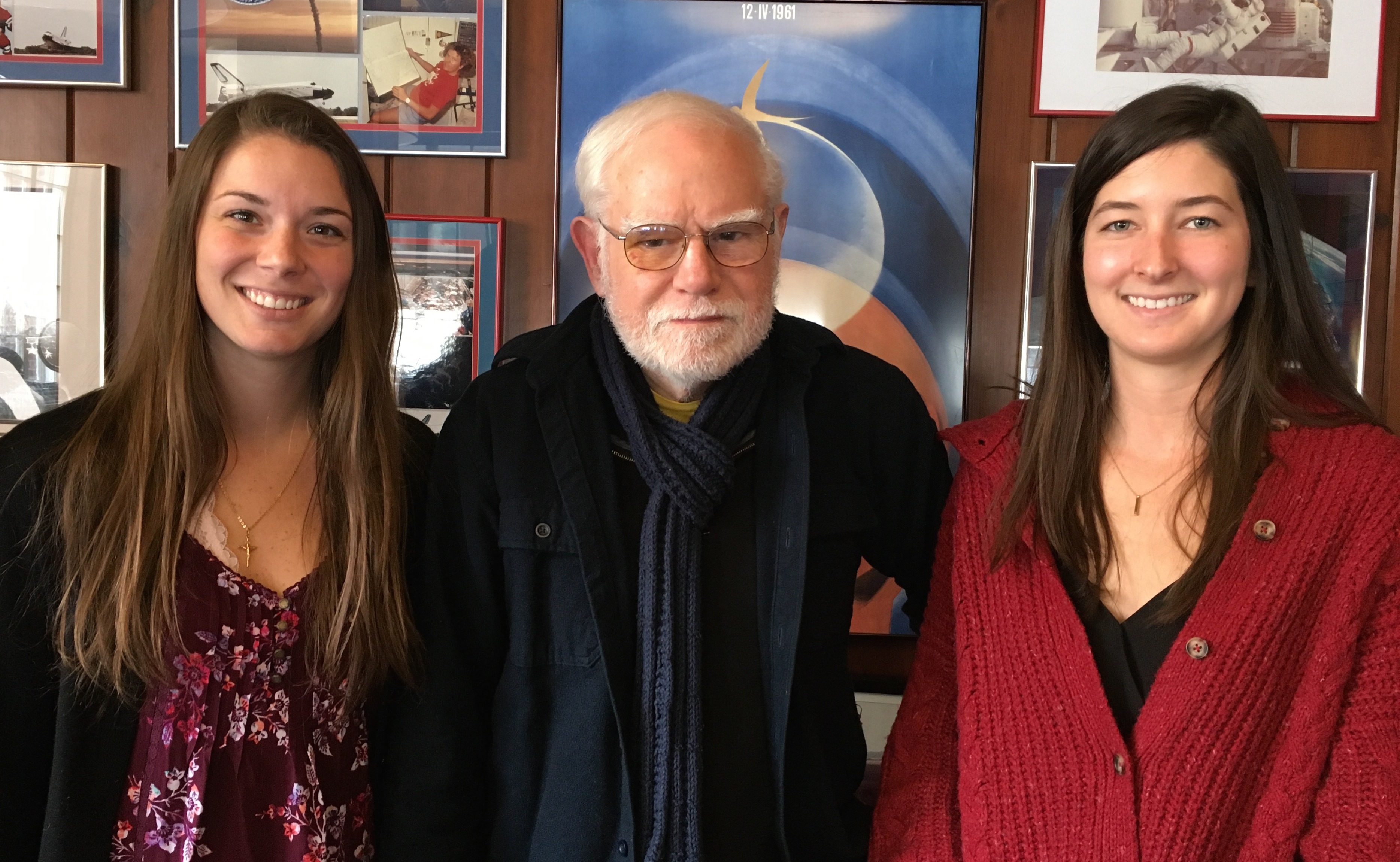 From left, Ashley Palumbo, Jim Head, and Ariel Deutsch.