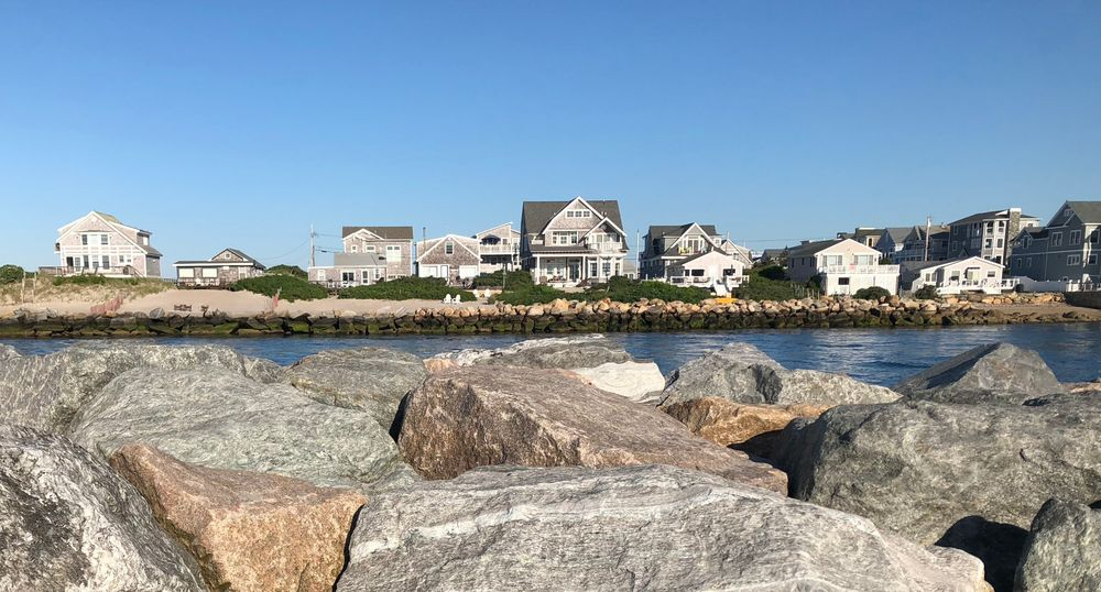 Homes in Narragansett are pictured here.