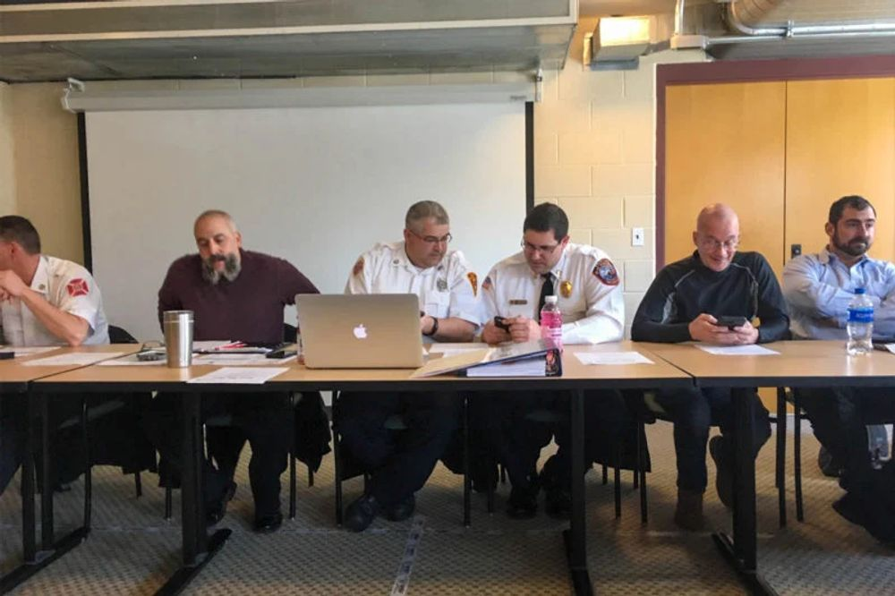 A panel of Rhode Island EMS practitioners and municipal fire chiefs debates whether EMS providers should be allowed to intubate at a meeting in March.