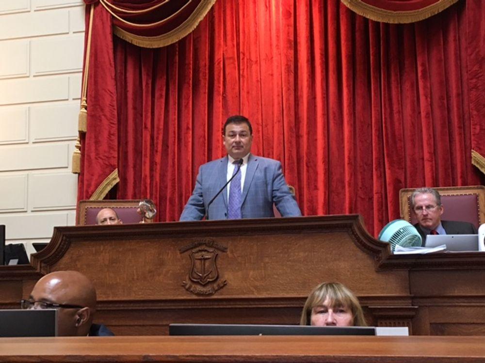 House Speaker Joe Shekarchi during last week's budget vote