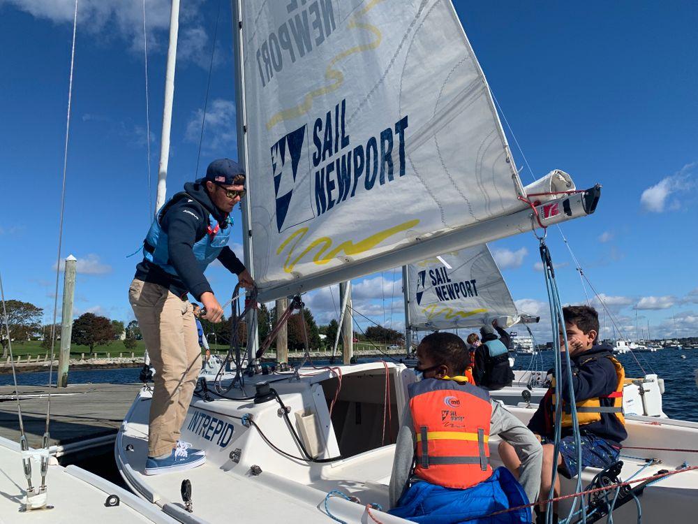 As school field trips return, Newport fourth graders set sail