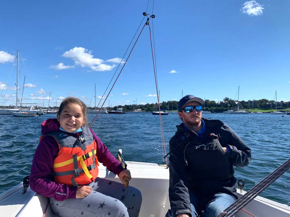 The sailing program incorporates the fourth grade science and social studies curriculum. A recent lesson focused on weather and devices sailors use to predict conditions.