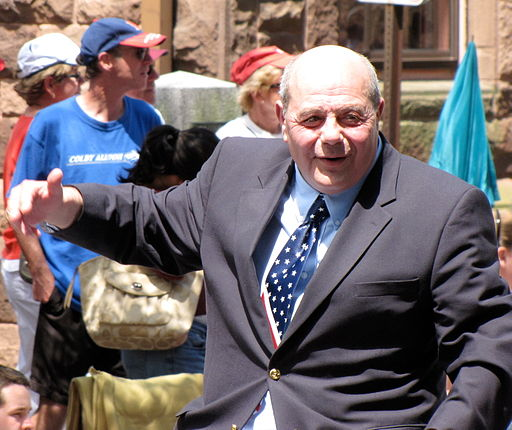 Buddy Cianci at the Bristol Fourth of July Parade in 2009.