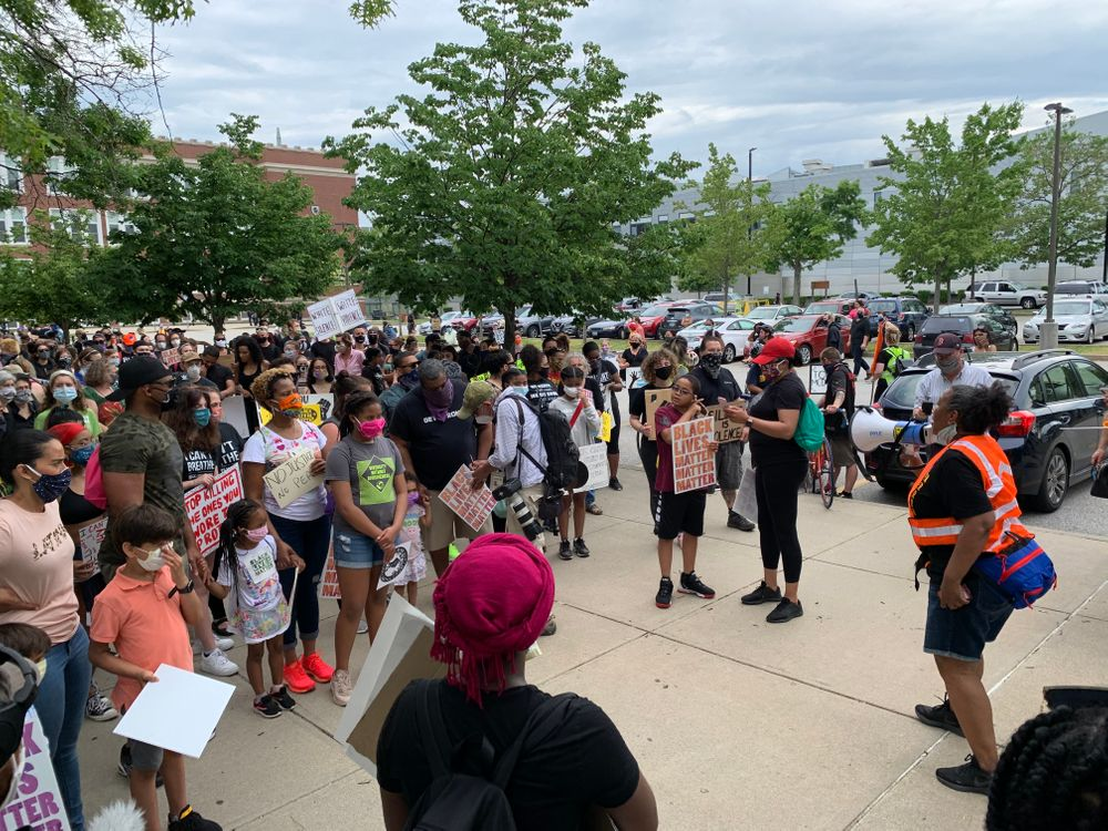 Organizers prepare to march from Central High School to