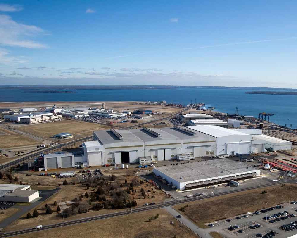 Electric Boat's Quonset Point facility.