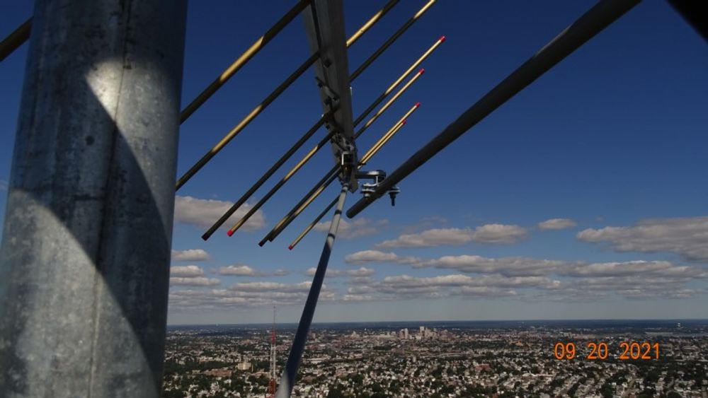102.9 antenna aimed at downtown Providence