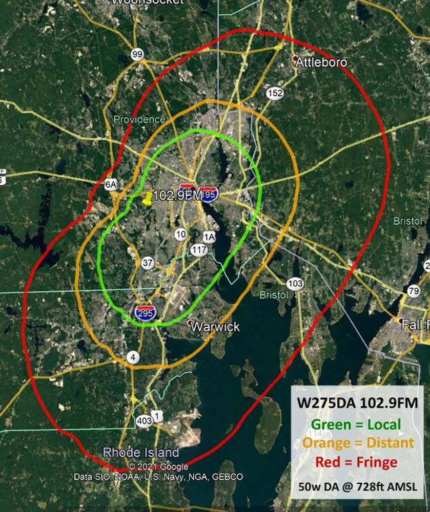 102.9 Coverage Map