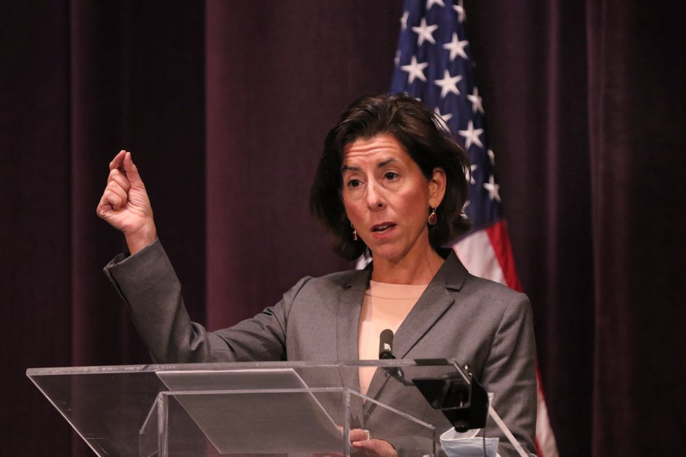 Gov. Raimondo announces new restrictions on social gathering at a news briefing Friday.