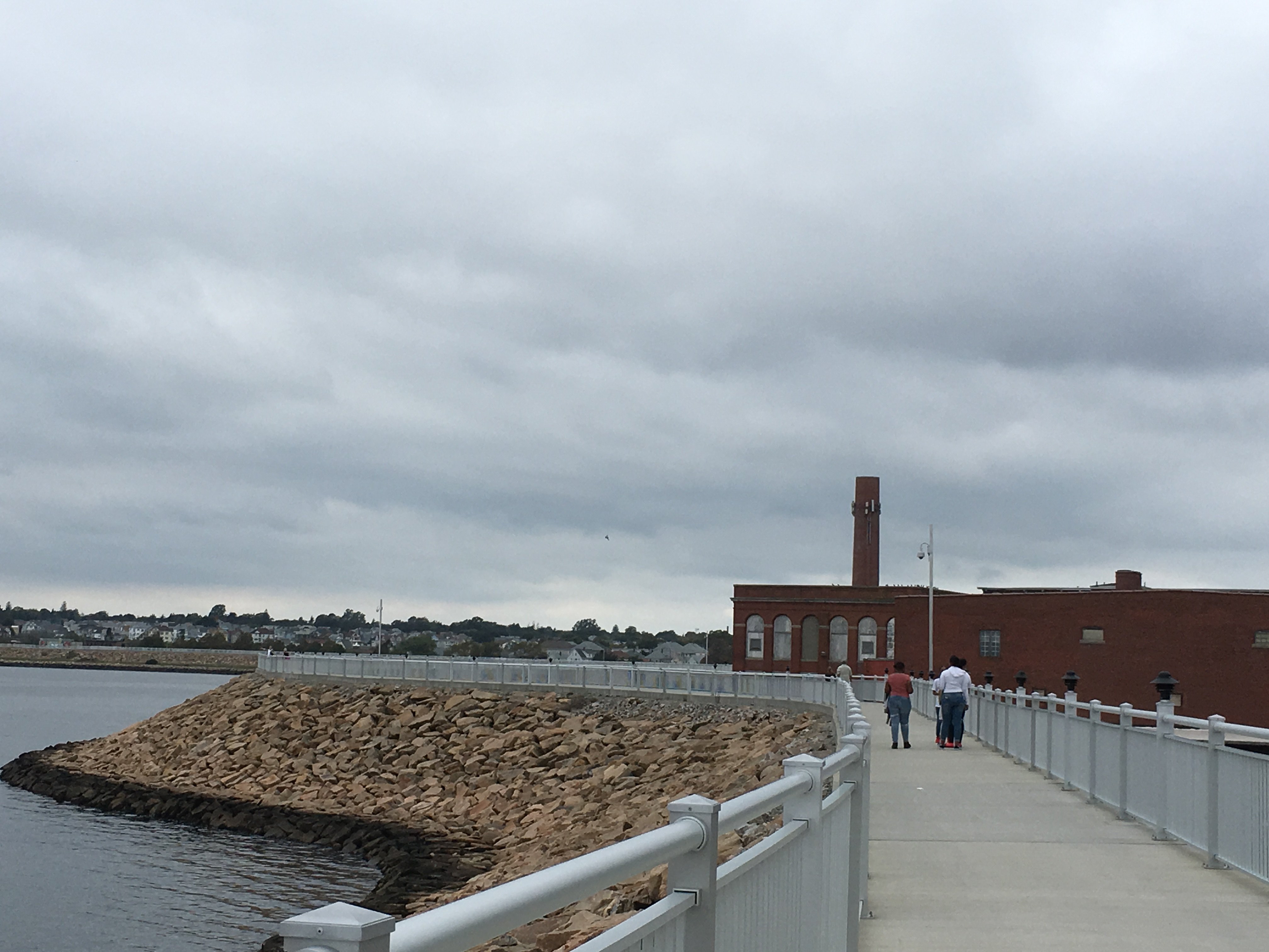 A pedestrian walkway in New Bedford