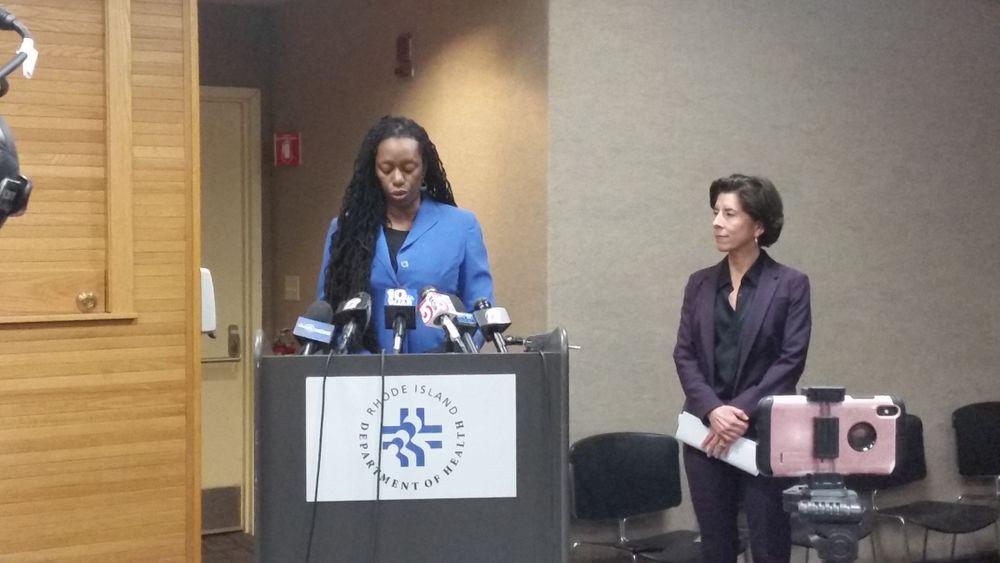 Dr. Nicole Alexander-Scott and Rhode Island Governor Gina Raimondo