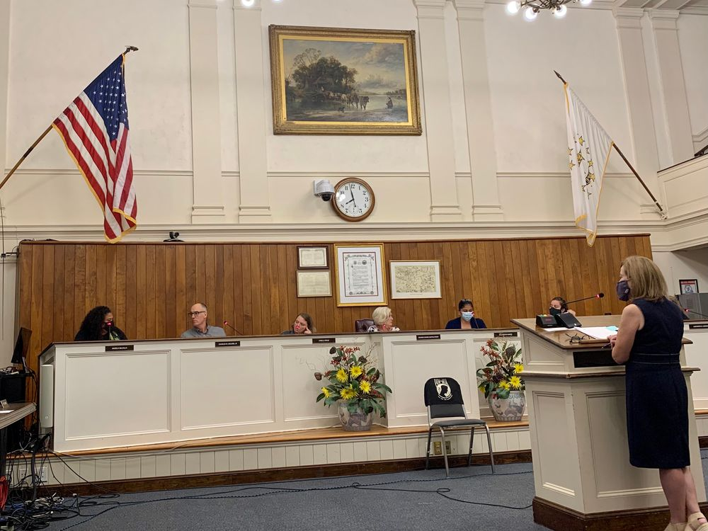 Patricia Reynolds, Newport's director of planning and economic development, speaks before the Newport City Council Wednesday night.