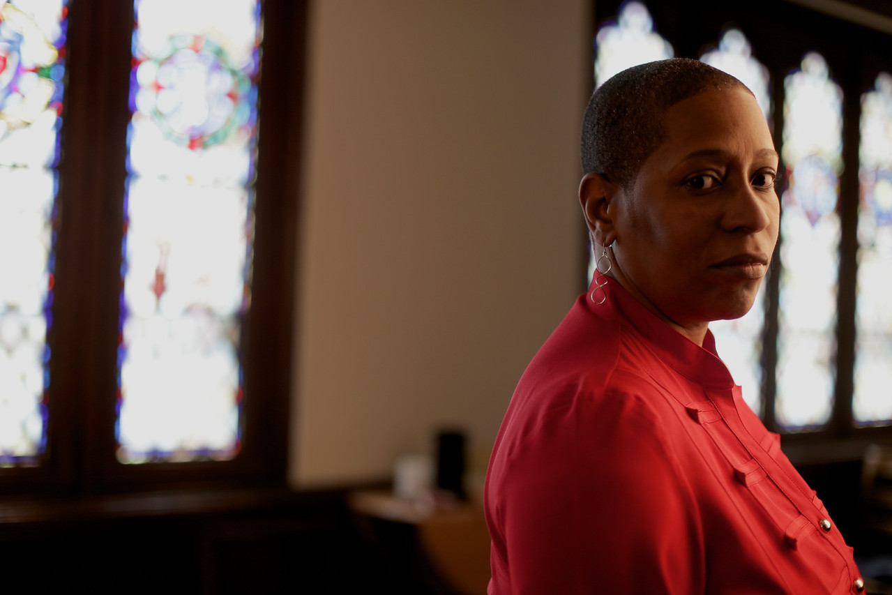 Dr. Pamela Lightsey in 2014 at Boston University's School of Theology.