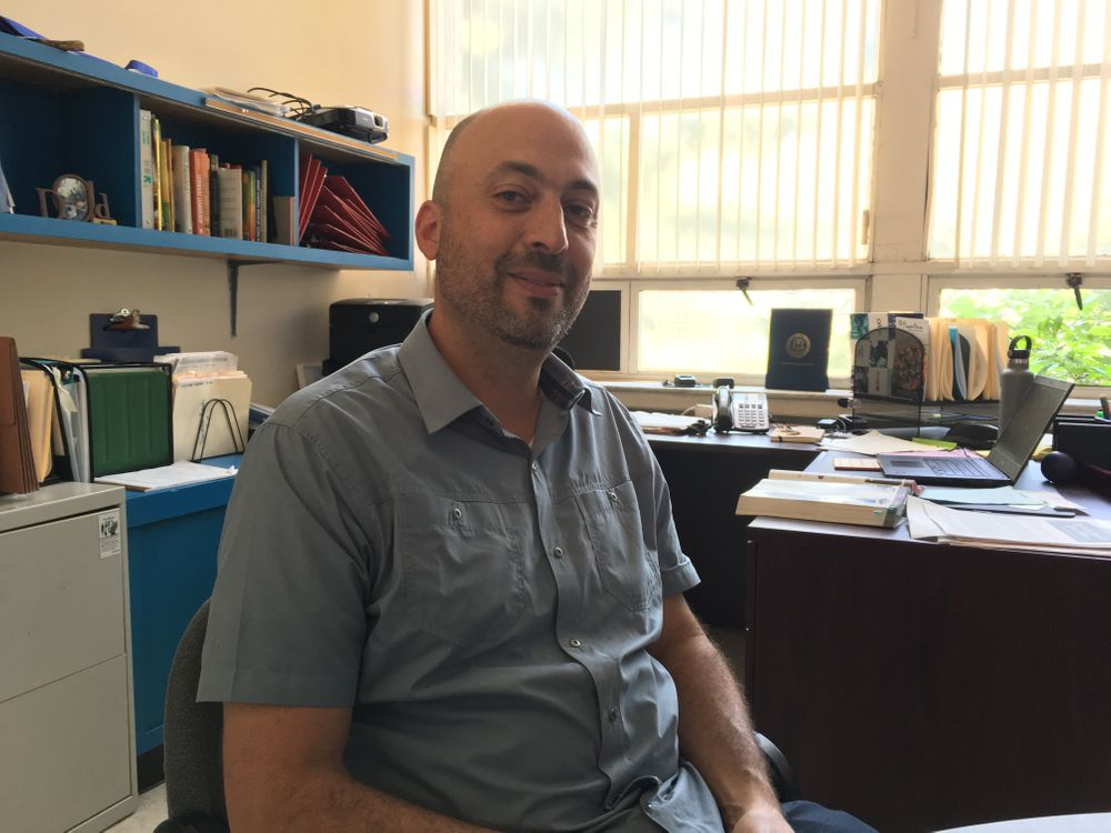 Principal Matt Russo in his office.