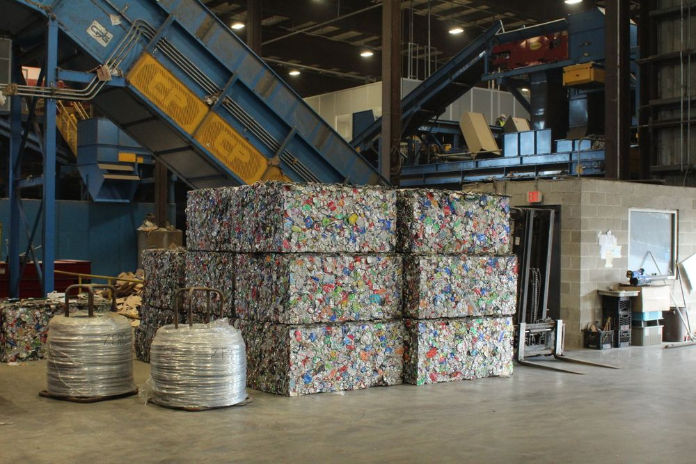 Bales of aluminum created from New Bedford's recycling trade on a global financial market.