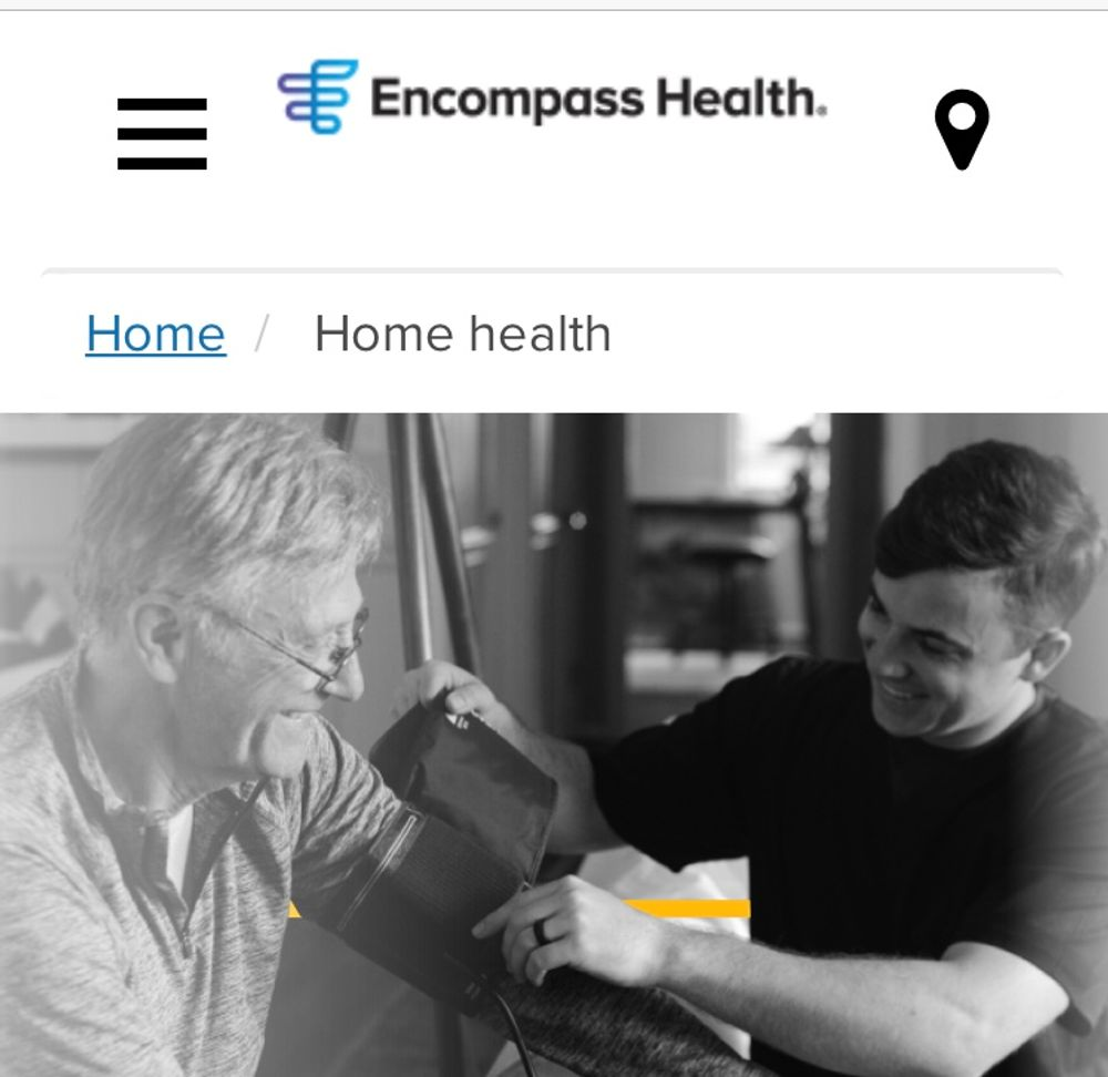 An image from the web site of Encompass Health