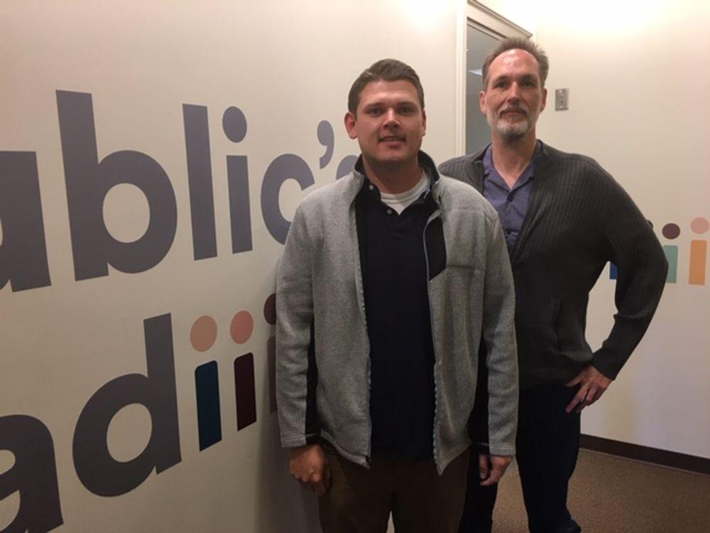 Nate Carpenter and Will Gregersen of the RI Progressive Democrats