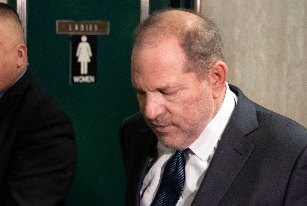 Former movie mogul Harvey Weinstein arrives at State Supreme Court for a hearing related to his sexual assault case, Thursday, July 11, 2019,  in New York. Weinstein's lawyer Jose Baez is going to court Thursday to get a judge's permission to leave the case, the latest defection from what was once seen as a modern version of O.J. Simpson's
