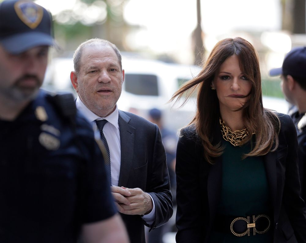 Harvey Weinstein, left, and attorney Donna Rotunno arrive at court for a hearing related to his sexual assault case, Thursday, July 11, 2019,  in New York. Weinstein's lawyer Jose Baez is going to court Thursday to get a judge's permission to leave the case, the latest defection from what was once seen as a modern version of O.J. Simpson's