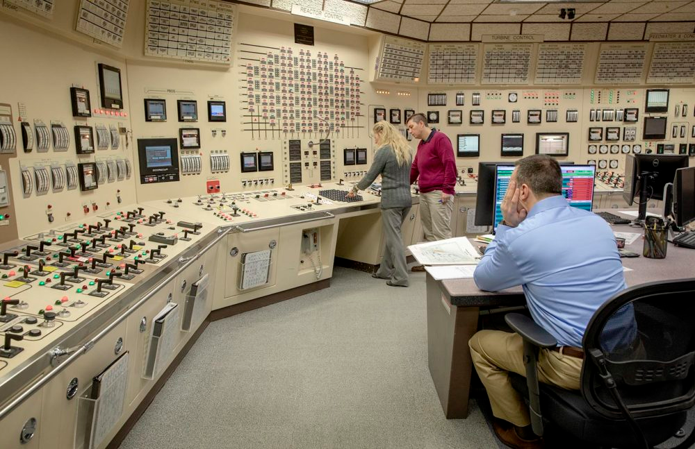 Entergy's Chiltonville Training Center is an identical twin mock-up of the control room at the Pilgrim nuclear power plant.