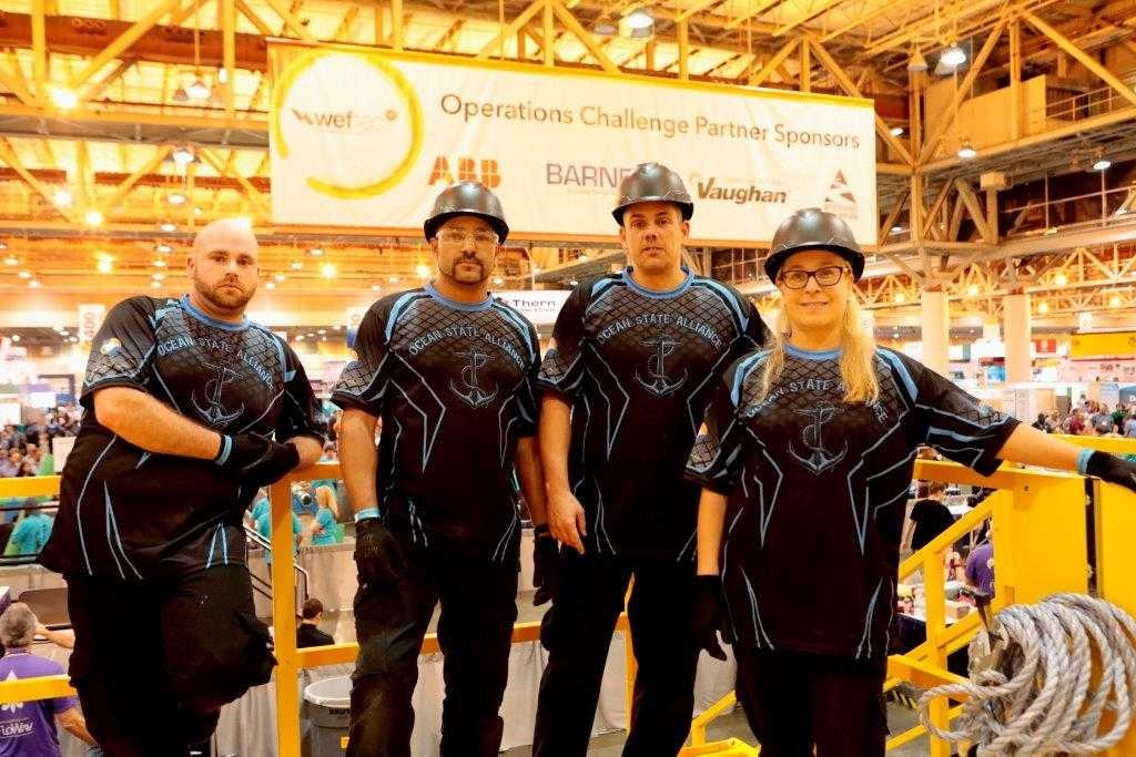 The Ocean State Alliance, (from L to R) Ryan Patnode, Peter Rojas, Ed Davies and Kim Sandbach, placed first in two out of the five challenges during the