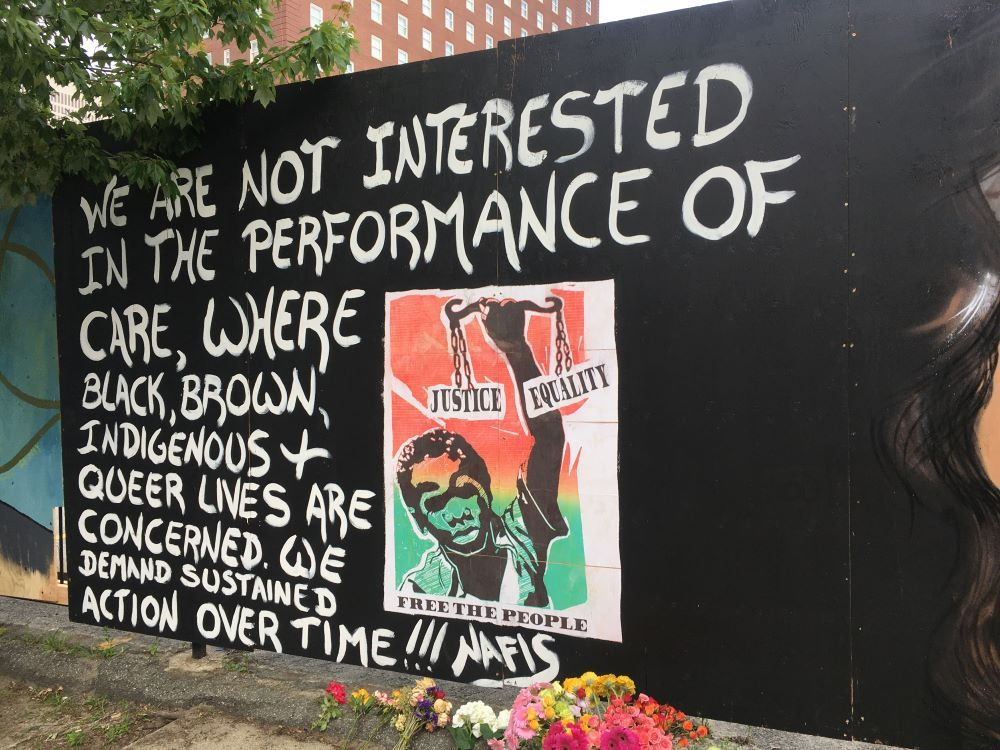 Mural now on display at Eddy & Fountain streets
