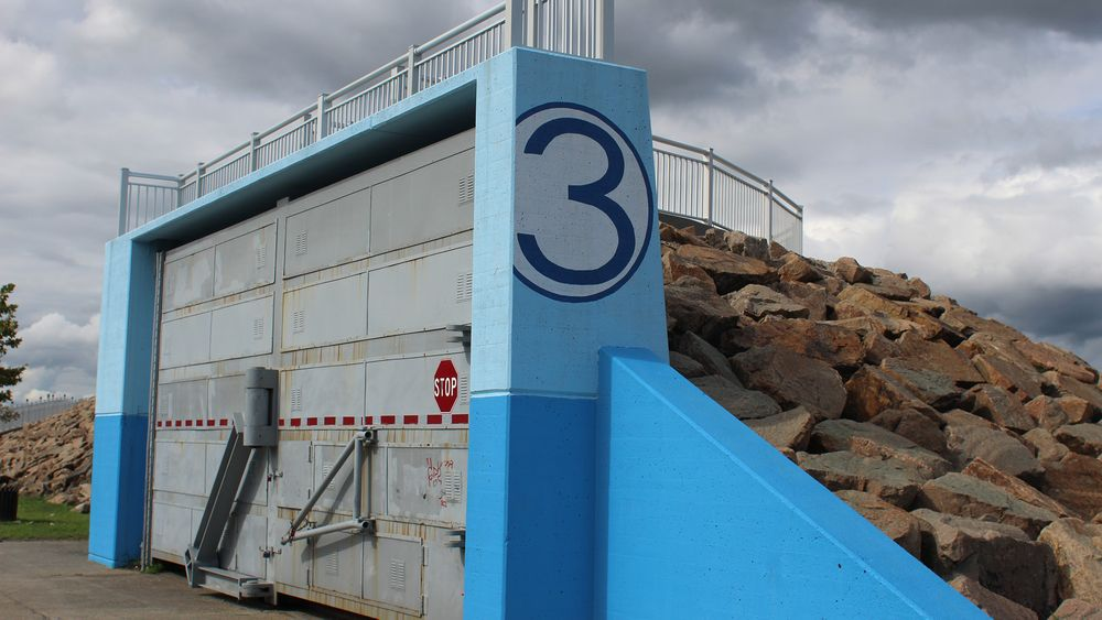 New Bedford is protected by the only hurricane barrier in Massachusetts.