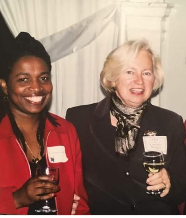Sue Carcieri (right), with Marcia Ranglin Vassell in the early 1980s