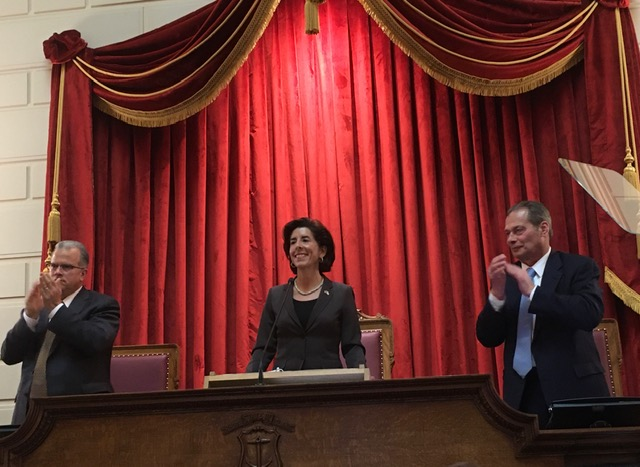Raimondo during her State of the State address in January.