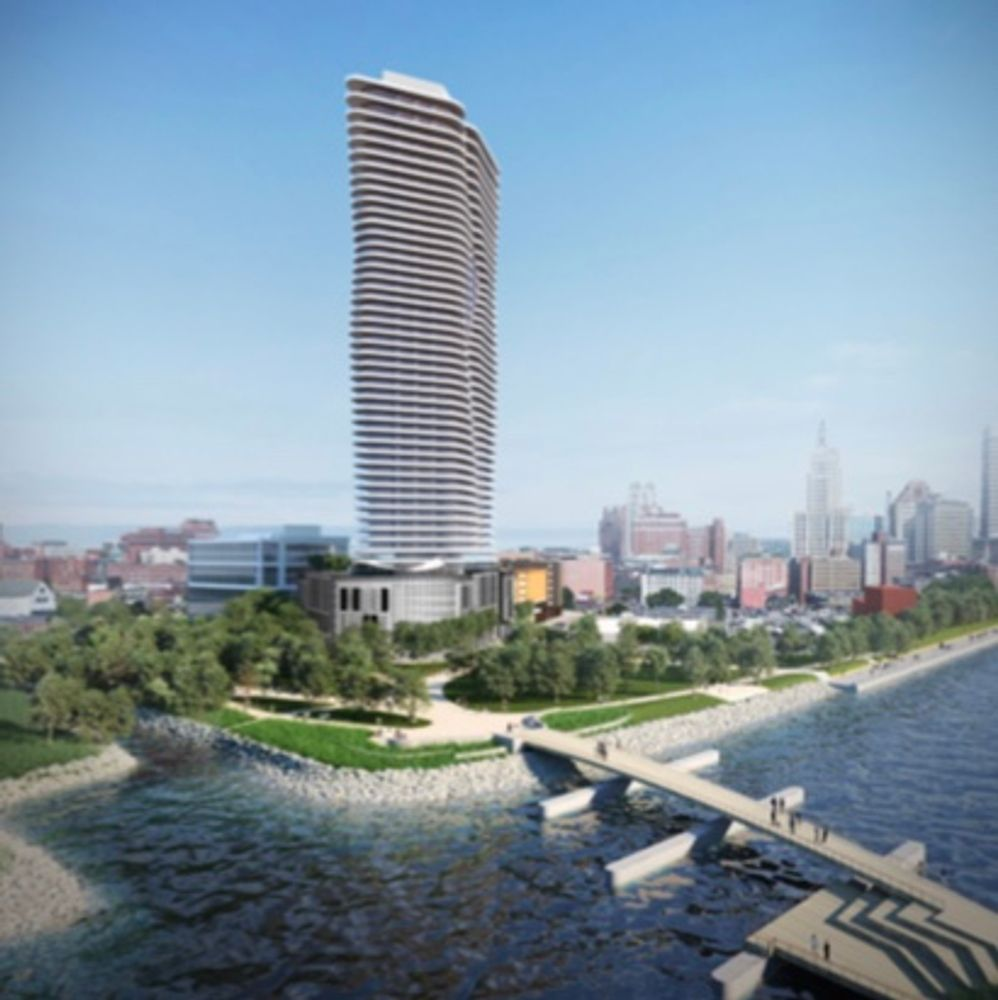A rendering from September of the Hope Point tower project