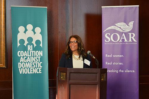 Tonya Harris, Executive Director of the Rhode Island Coalition Against Domestic Violence
