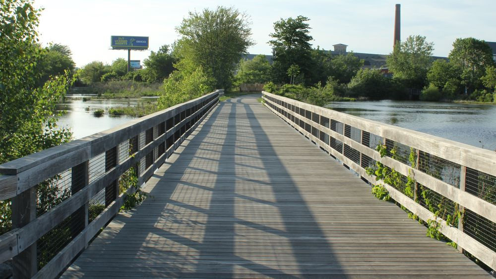 The Alfred J. Lima Quequechan River Rail Trail opened in 2017.